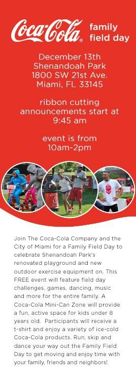 Coca-cola family field day