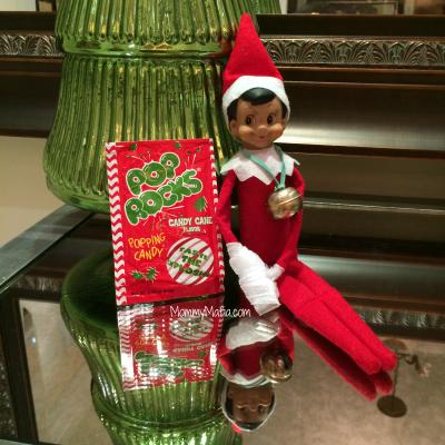 Elf on The Shelf broken arm mommymafia.com
