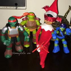 Elf on the Shelf Ninja Turtles MommyMafia.com