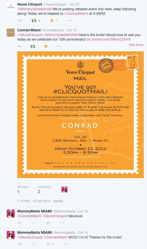 #ClicquotMail Conrad Miami MommyMafia.com