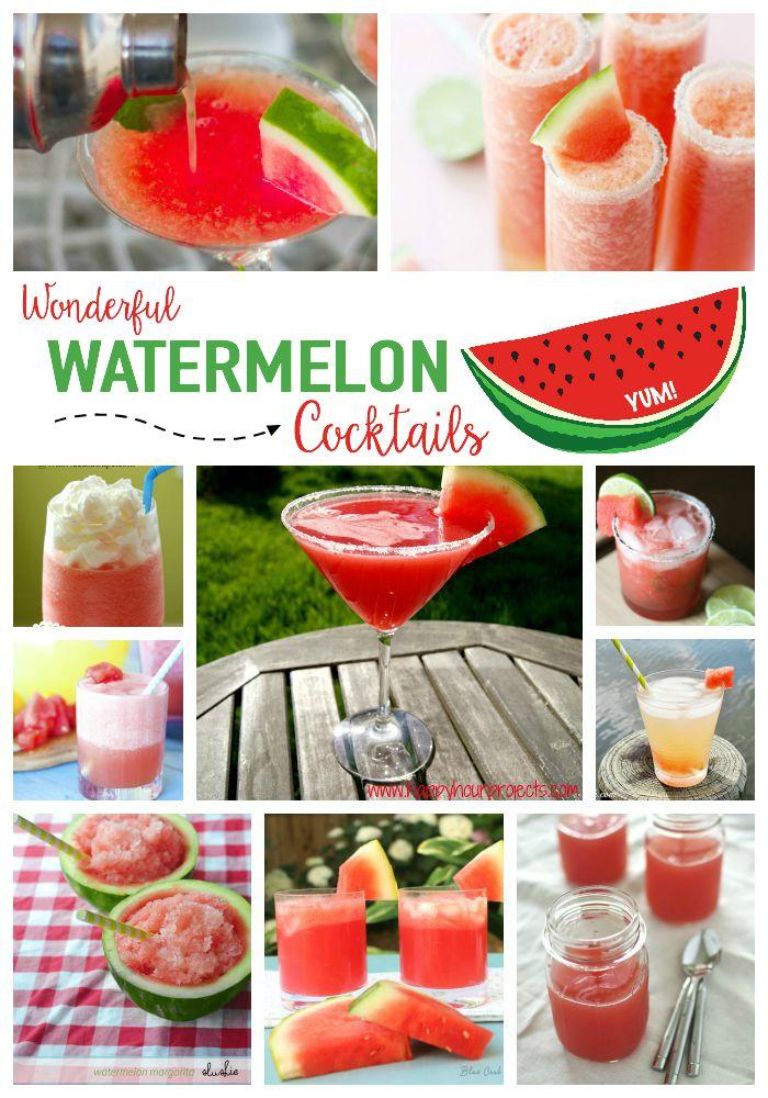 Wonderful Watermelon Cocktails MommyMafia.com