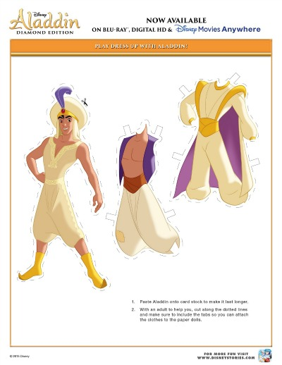 Disney Aladdin Activity Pages 2