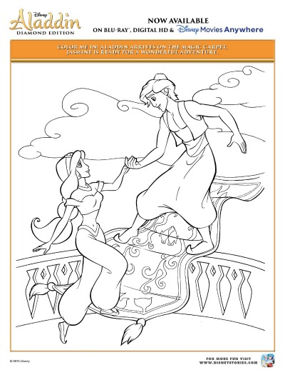 Disney Aladdin Coloring Pages 1