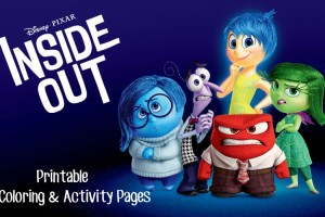 Disney Inside Out Coloring Pages & Activity Sheets For Family Movie Night
