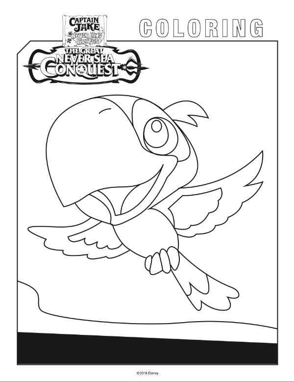 Free Printable Coloring Pages Disney Junior : Yo ho let s go jake and the never land pirates free