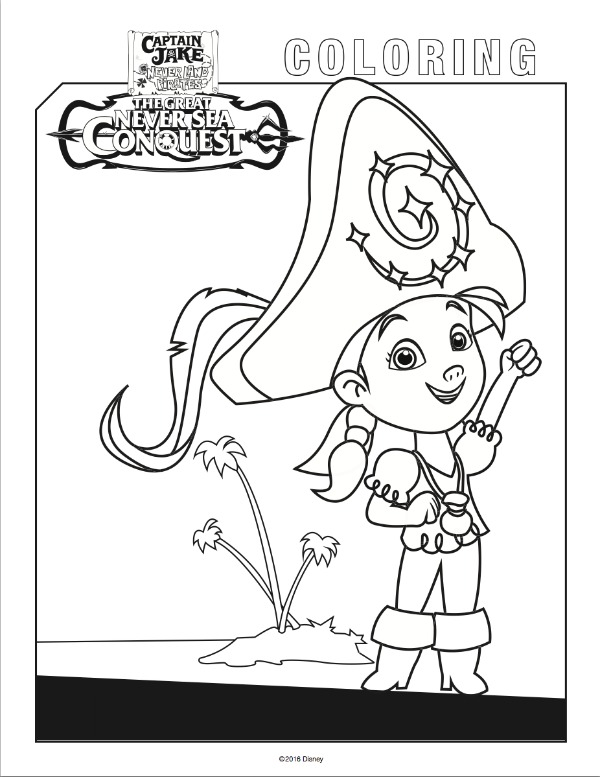 Yo Ho! Let\'s Go! Jake And The Never Land Pirates Free Coloring Pages ...