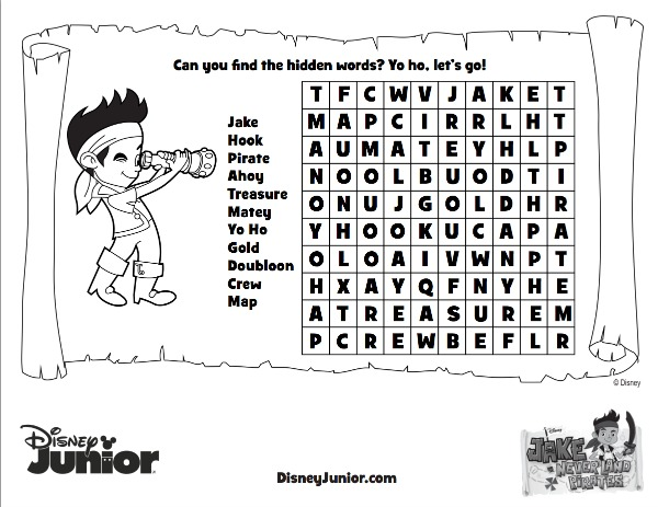 Coloring Pages Jake Neverland Pirates Free Printable