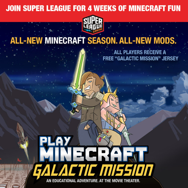 Play Minecraft At The Movies! Super League Gaming Returns To Miami
