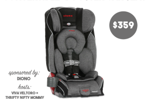 Giveaway! Dino Radian RXT Convertible + Booster Car Seat