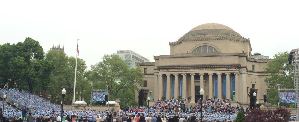 college graduation columbia university