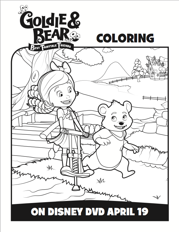 Goldie And Bear Coloring Pages 1