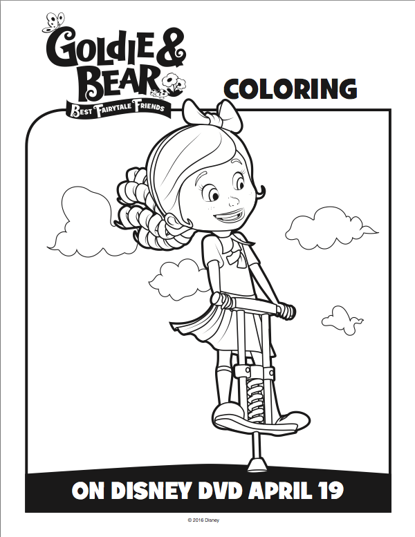 Goldie And Bear Coloring Pages 2