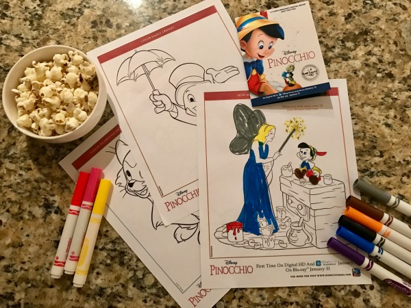 Free Disney Pinocchio coloring